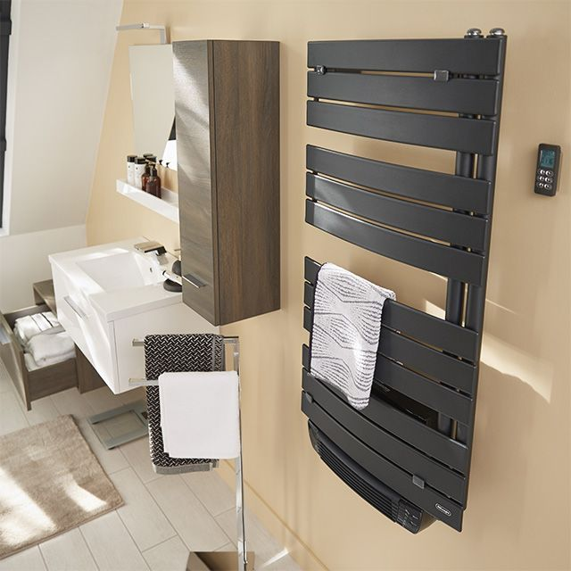 radiateur s che serviettes soufflant delonghi madeira 1500 w castorama salle de douche. Black Bedroom Furniture Sets. Home Design Ideas