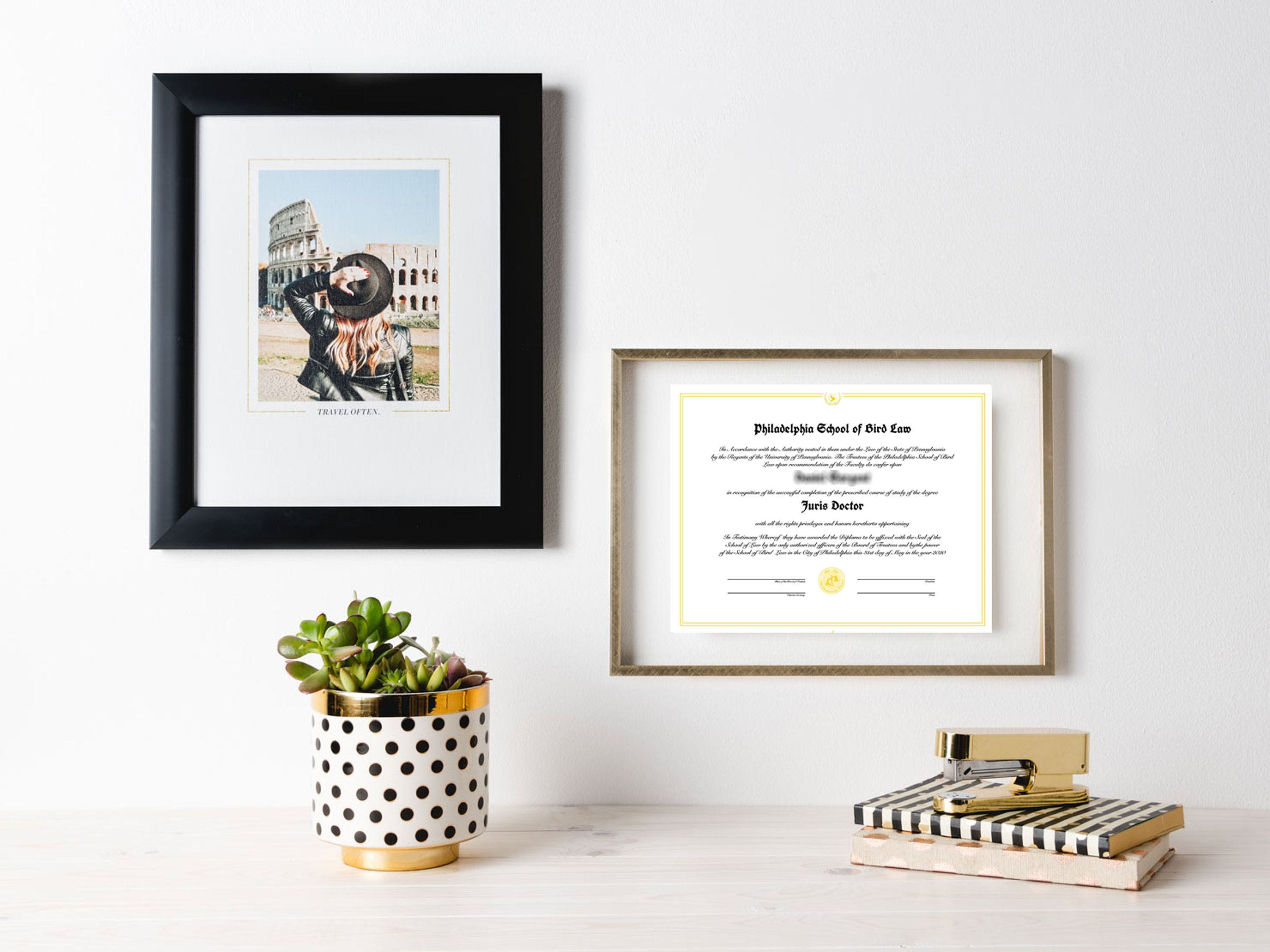Sunny In Philadelphia Print School Of Bird Law Wall Art Etsy Diploma Display Diploma Display Wall Diploma Wall