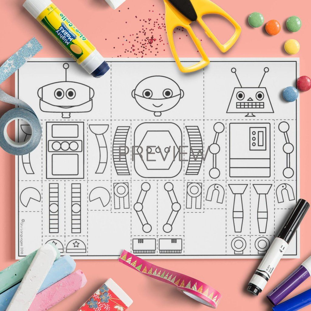 Body Monster And Robot Mix And Match Craft