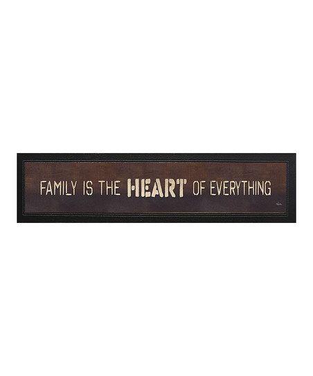 Karens Art Frame Family Is The Heart Framed Wall Zulily