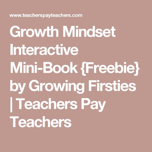 Growth Mindset Interactive Mini-Book {Freebie} by Growing Firsties | Teachers Pay Teachers