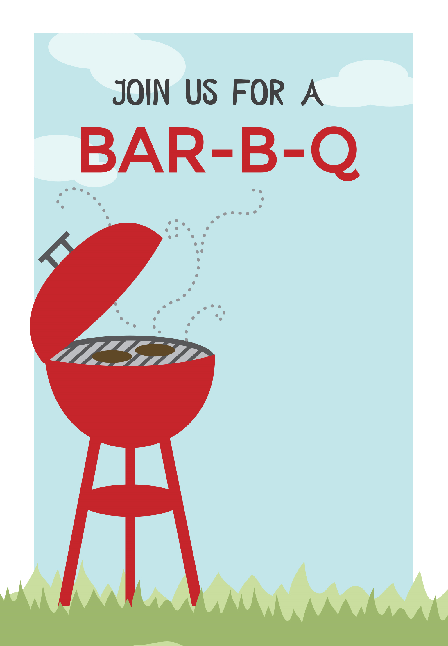 bbq cookout bbq party invitation