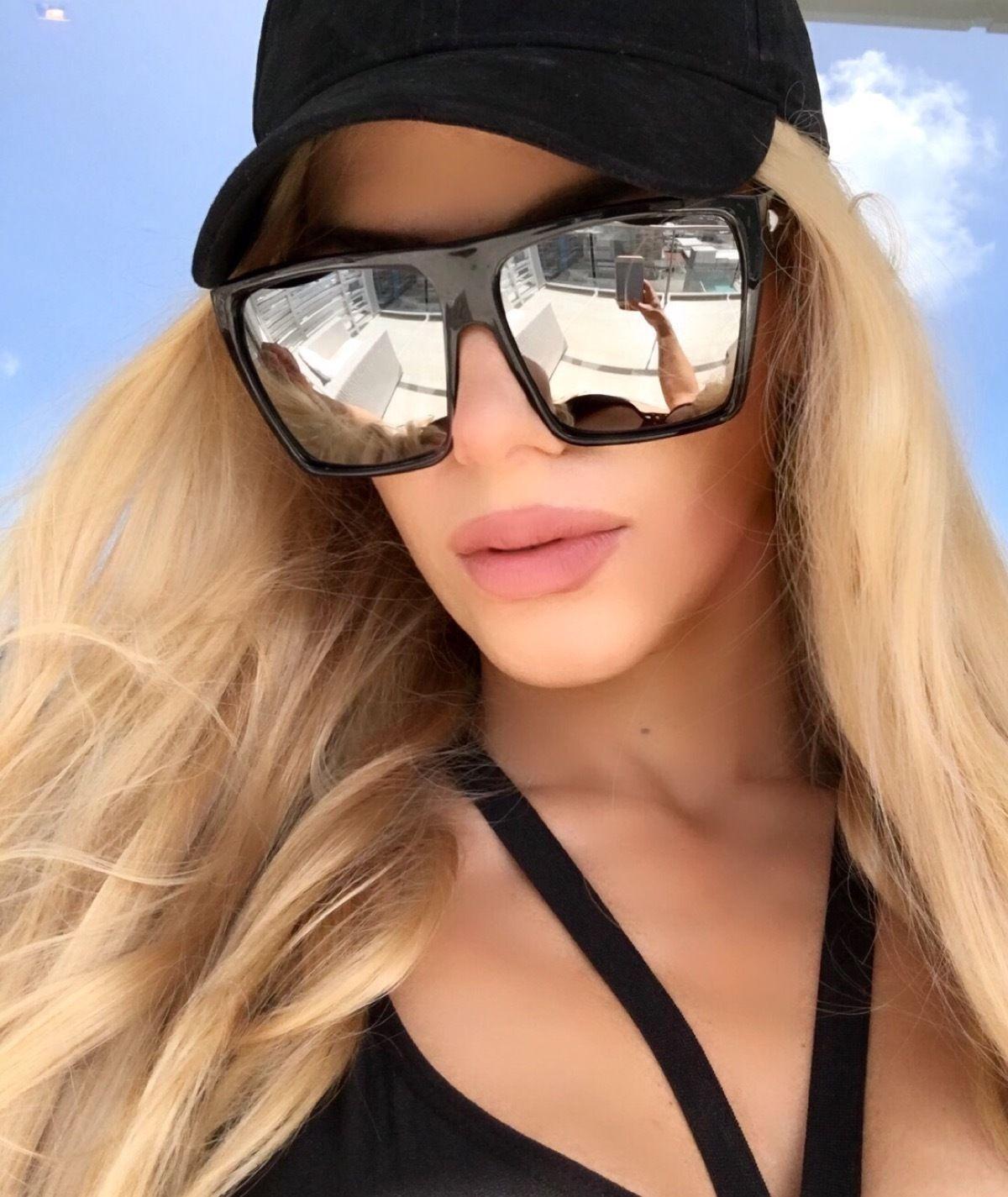 9454da28e Flat Top Huge Big Oversized XXL Square Women Sunglasses