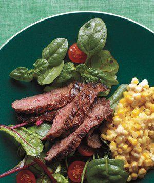 Cajun Skirt Steak With Creamed Corn Recipe