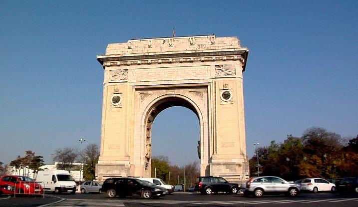 Arco del Triunfo en la capital de Rumanía. Madrileños por el Mundo en Bucarest: http://youtu.be/s8YjiqORqp8