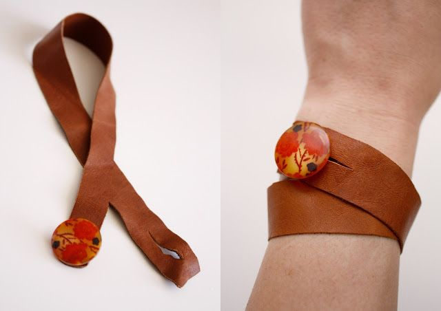 Photo of DIY button cuff bracelet