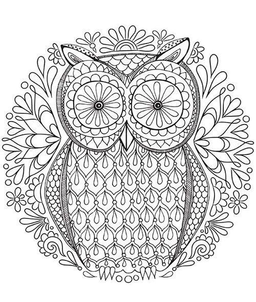 Búho para colorear libre Página de Thaneeya … | manualidades | Pinte…