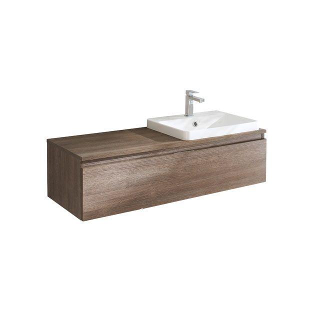 Meuble pour vasque semi encastrée centré L 90 cm EVASION