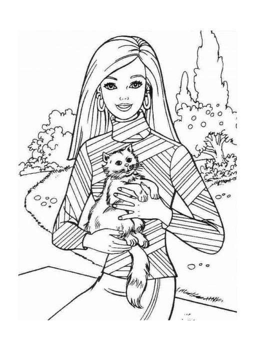 Retro Barbie Coloring Pages : Barbie coloring page world pages