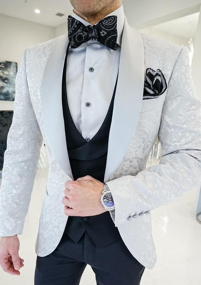 Silver Fiore Dinner Jacket In 2020 Kleidung Herren Kleidung Anzug