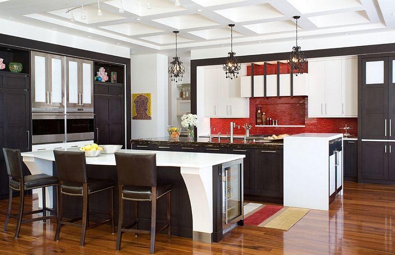 50 idee di colore paraschizzi per una stupenda cucina | Rosso e Cucina