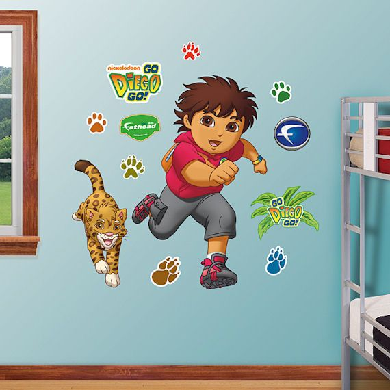 Fathead Go Diego Go Peel And Stick Decal   Wall Sticker, Mural, U0026 Decal  Designs At Wall Sticker Outlet