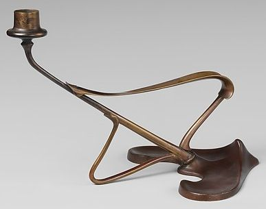 Art Nouveau Candlestick Model No 1459 By Richard Riemerschmid C 1898 Germany Cast And Wrought Brass Art Nouveau Lighting Art Nouveau Art And Craft Design
