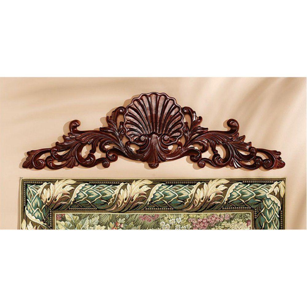 Design Toscano Rococo Architectural Wooden Wall Pediment You