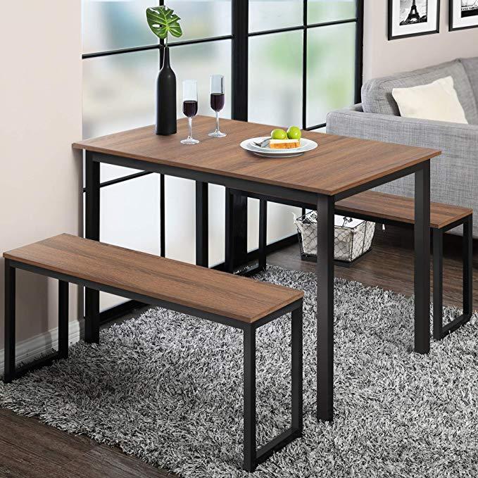 Amazon Com Homury Modern Studio Soho Dining Table With Two