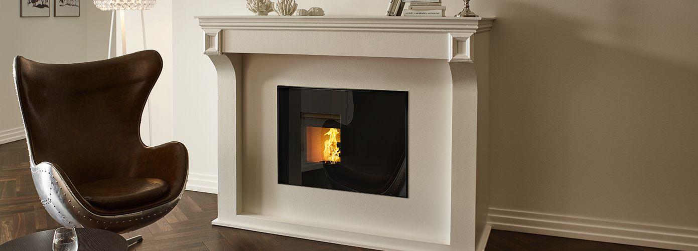 INTERNO - Pelletofen für den Kaminverbau RIKA living room - pelletofen für wohnzimmer