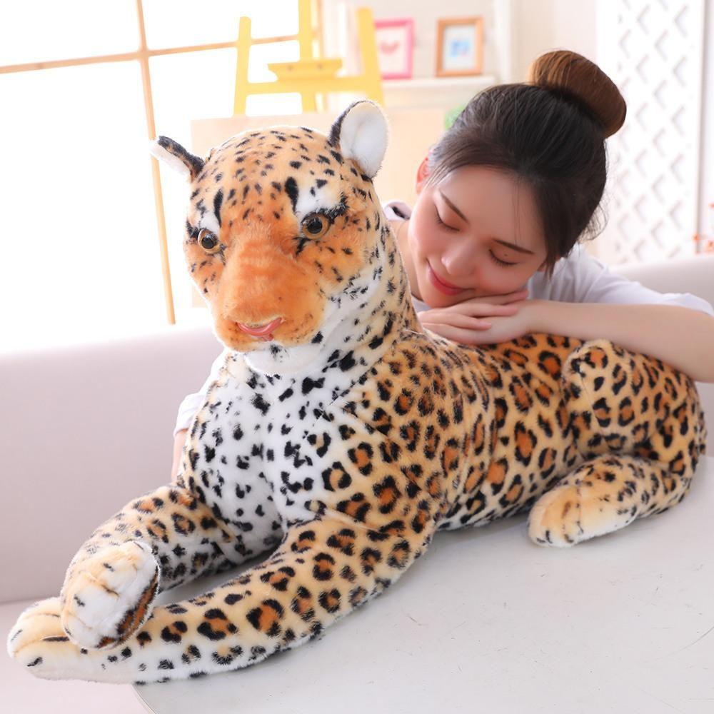 Leopard Soft Stuffed Plush Toy 60cm In 2021 Plush Giant Stuffed Animals Animal Lover [ 1000 x 1000 Pixel ]