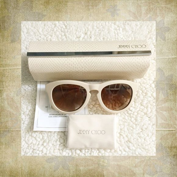 e78e3e7c0d9f Brand new Jimmy Choo Hero Sunglasses...comes with Jimmy Choo dust cloth,  case, authenticity card & booklet all in original packaging...retail $665  Jimmy ...