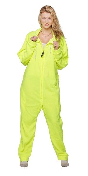 75015e5a44 Neon Yellow Deluxe Adult Onesies