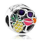 New 2017 Authentic Pandora Bead Summer Fun Charm 792118ENMX Island Vacation