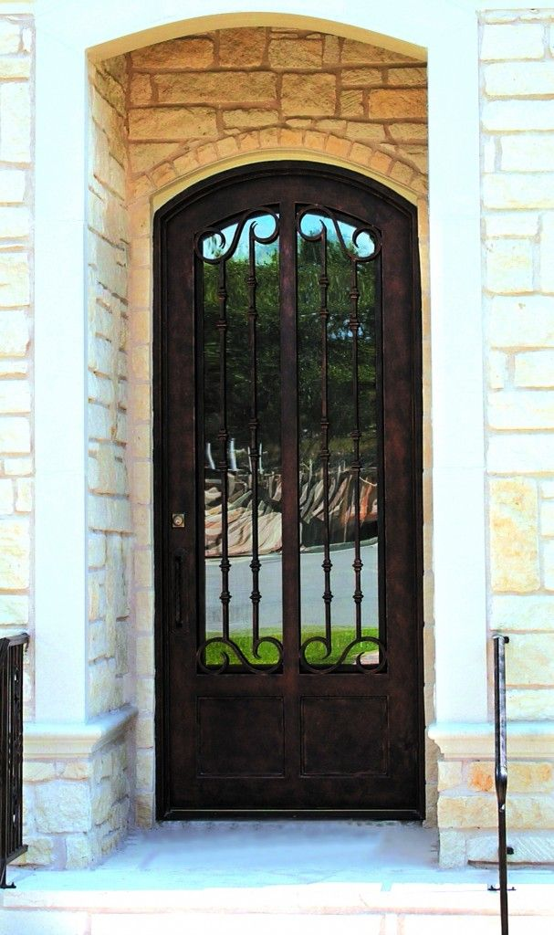 Bella Villa 68 6 Wrought Iron Doors Windows Gates Railings From Cantera Doors Wrought Iron Front Door Wrought Iron Doors Steel Entry Doors