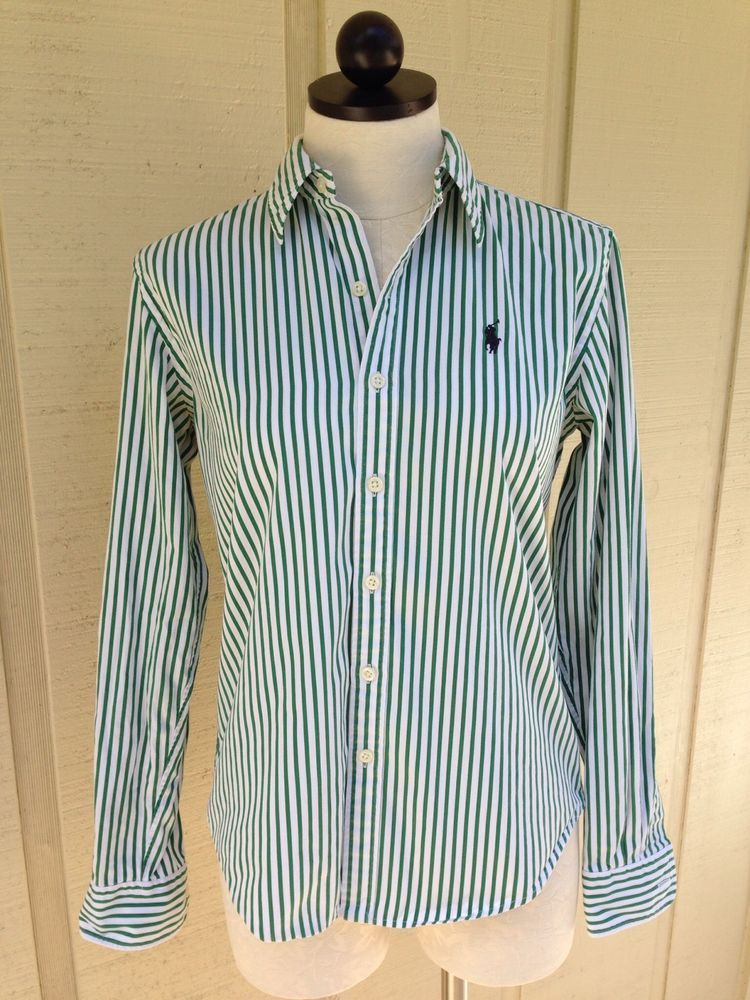 Womens Navy Striped Shirt
