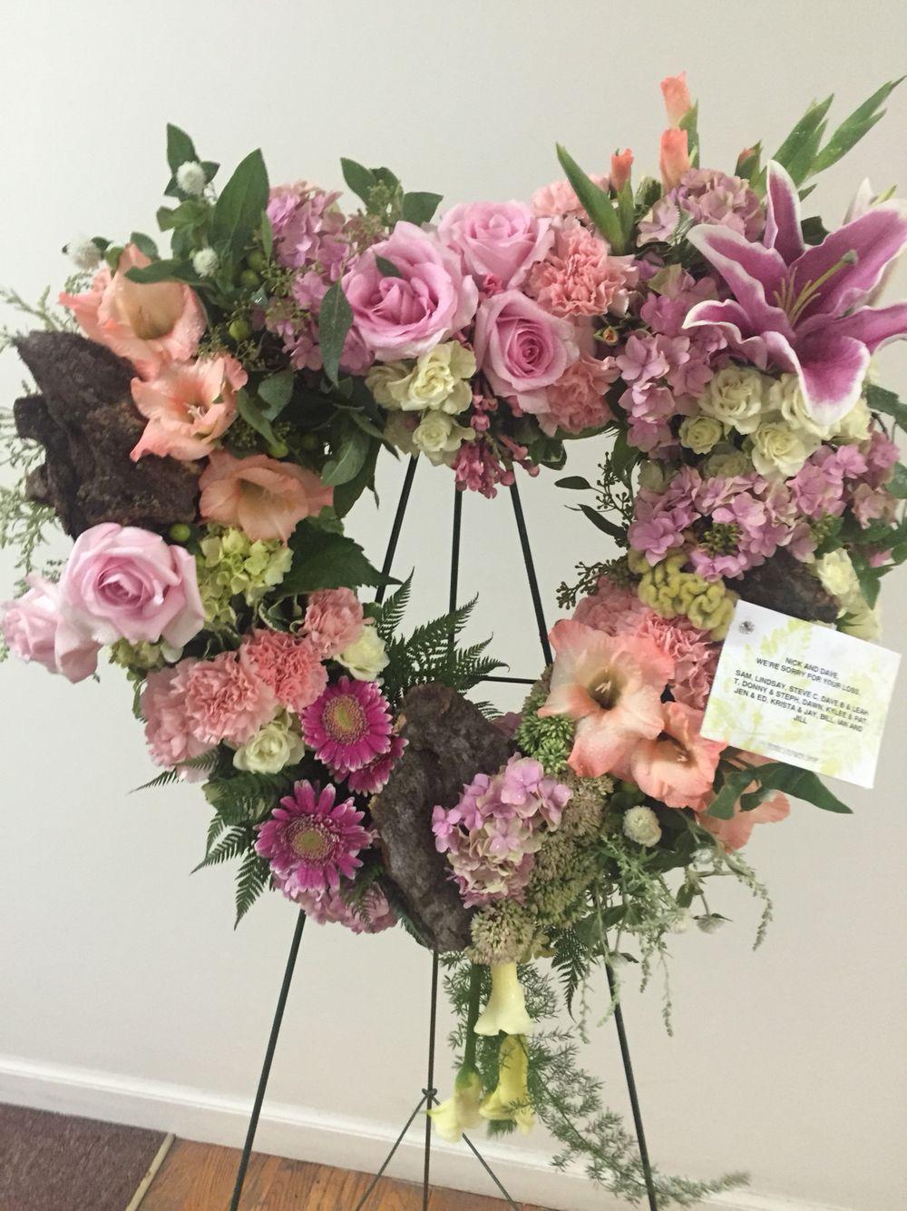 Open heart funeral flower arrangement bysamantha mikes terris open heart funeral flower arrangement bysamantha mikes terris flower shop izmirmasajfo