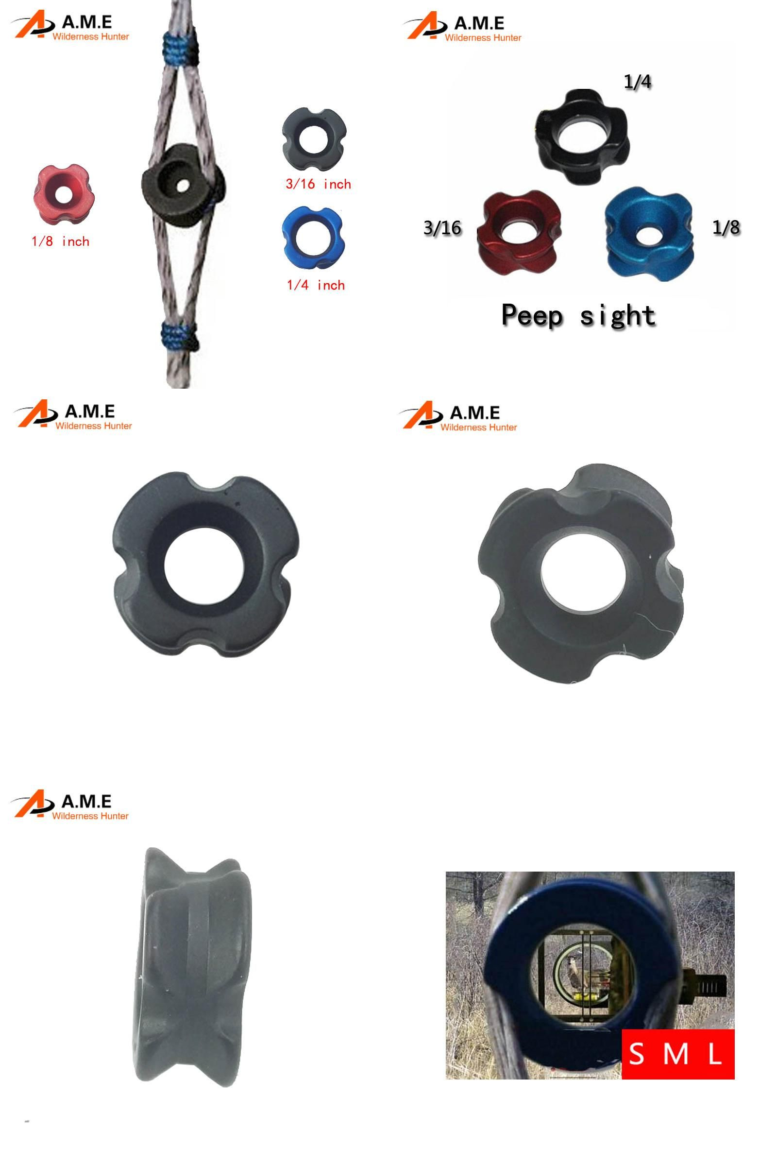 Archery Peep Sight Shooting Hunting Tactical Accessories 1//8/'/' For Compound Bow