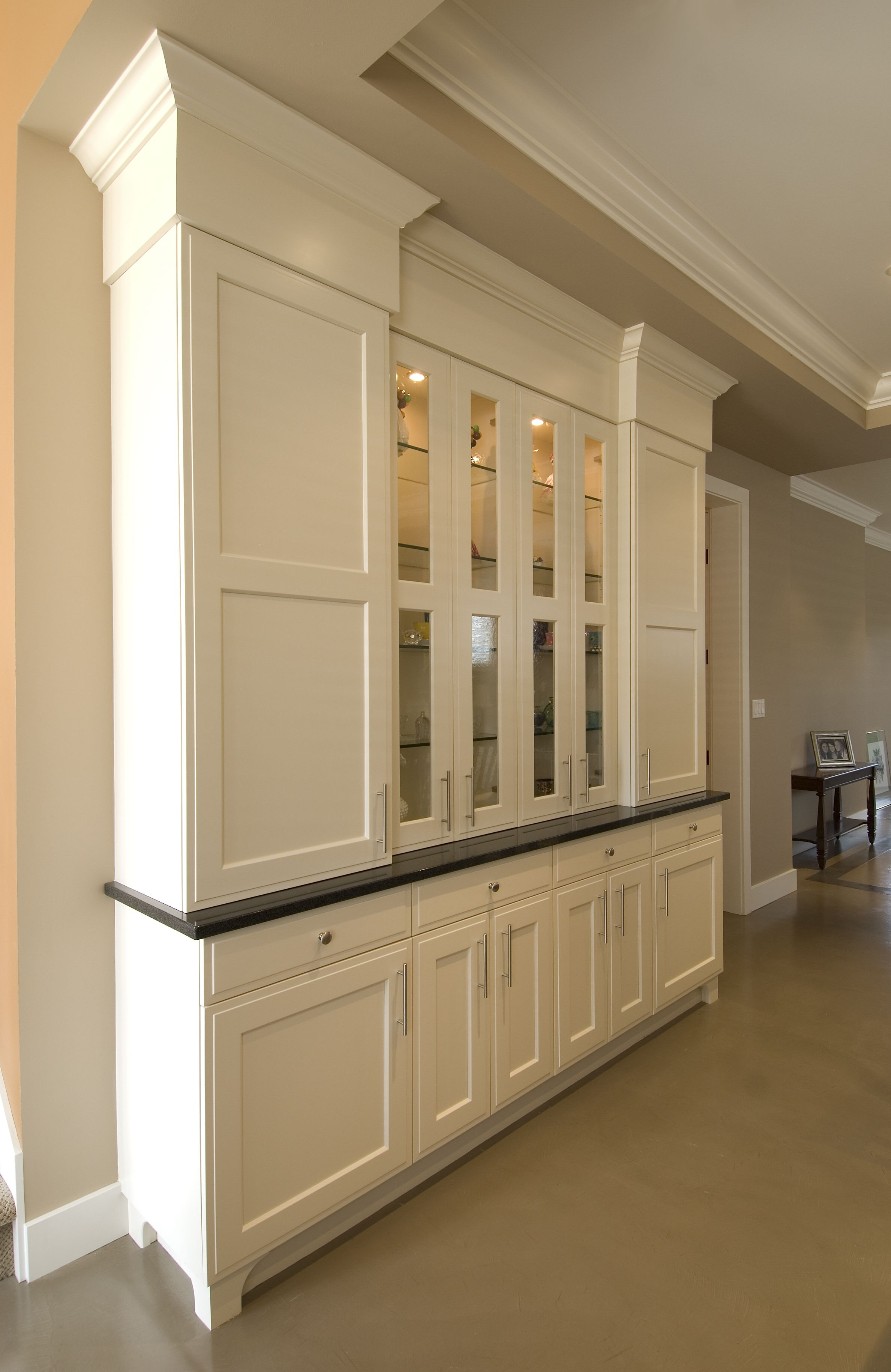 Painted :: Shaker Door Style :: Custom Cabinets #kitchen #cabinets #custom