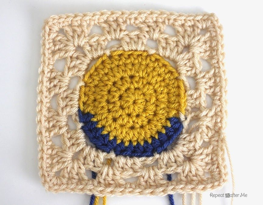 Repeat Crafter Me: Crochet Minion Granny Squares | crochet ...