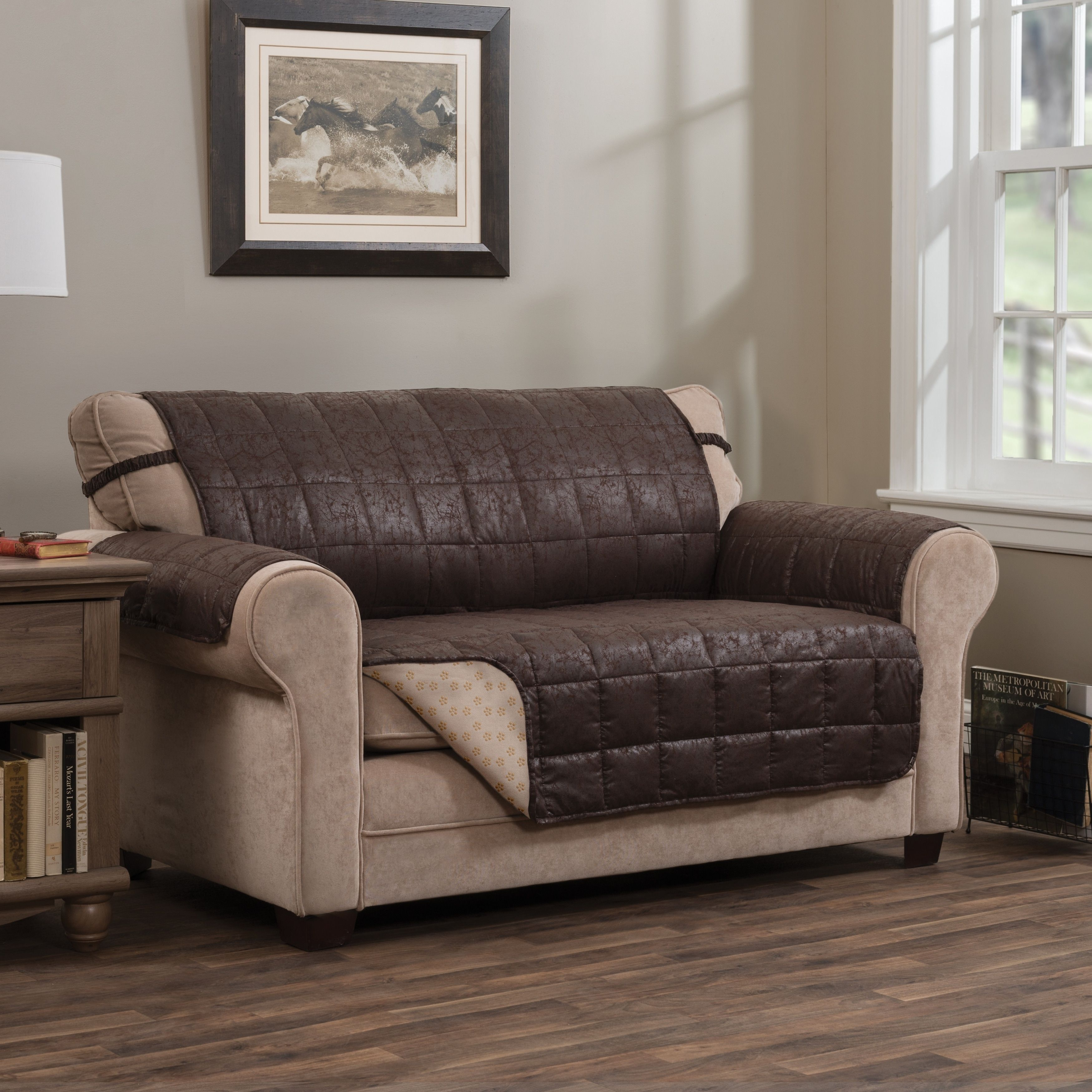 Faux Leather Sofa In A Box Innovative Textile Solutions Brentwood Faux Leather Xl Sofa