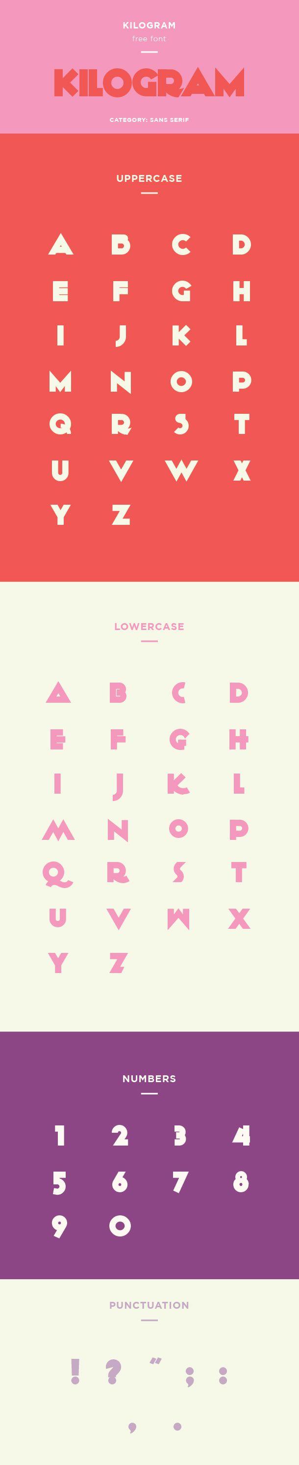 Kilogram Free Font Click Here For Typeface Sans Serif