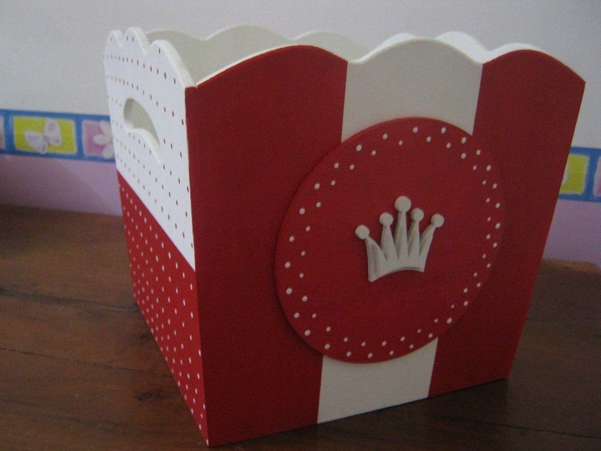 Caja cajas portaajuar fibrofacil pintadas a mano deco - Manualidades pintar caja metal ...