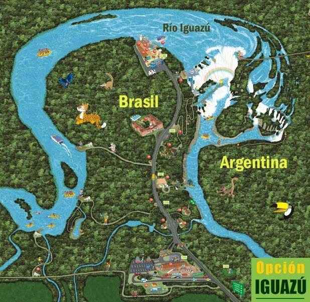 Cataratas De Iguazu Lado Argentino Mapa.Nea Turismo Puerto Iguazu Cataratas Del Iguazu Viajar A