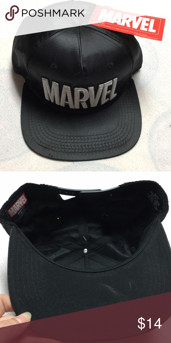 2f4d4383226 Marvel Hat NWT NWT adjustable band black marvel Hat. Please see photos for  details Marvel Accessories Hats