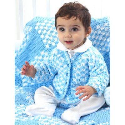 Free Intermediate Baby\'s Cardigan Crochet Pattern | Free Crochet ...