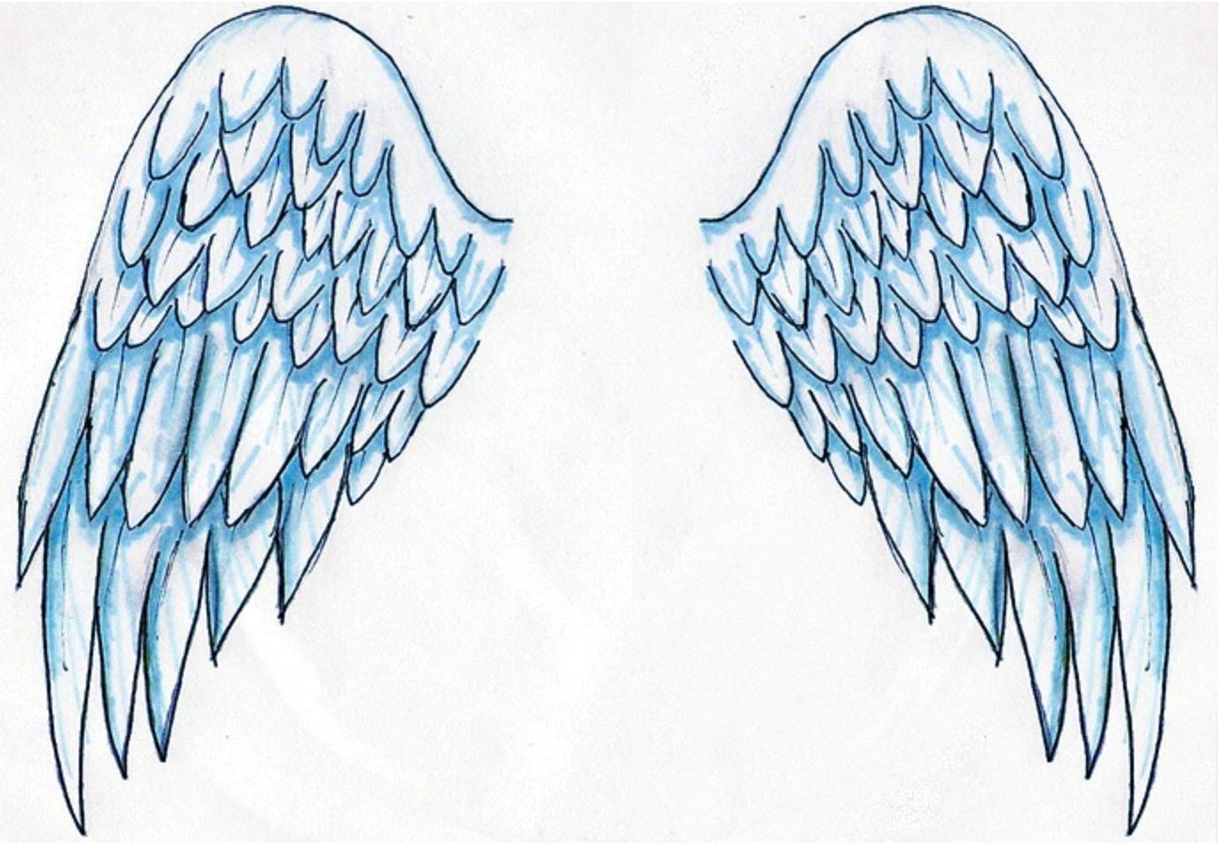 Dibujos y Plantillas para imprimir: Alas de Angel … | Dibujo |…