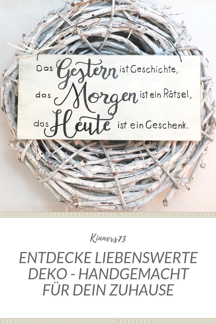 Holzschild Handbemalt Gestern Morgen Heute Wanddeko Geschenk Zur Hochzeit Geburt Liebe Freundschaft Spruchschild Schoner Spruch Holzschilder Geschenk Hochzeit Geschenke