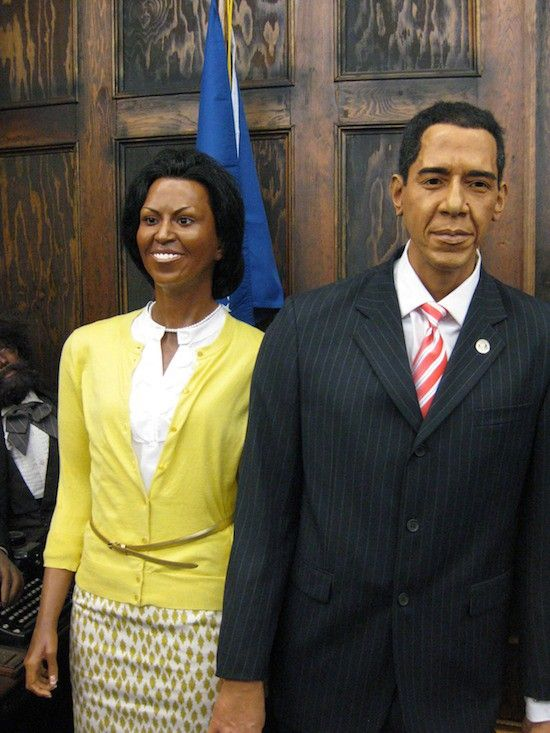 Wax figures of Barack and Michelle Obama I L ❤ ve Our First - michelle obama resume