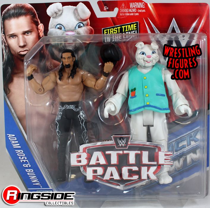 WWE ADAM ROSE /& THE BUNNY NXT WWF BATTLE PACK MATTEL SERIES 38 WRESTLING FIGURE