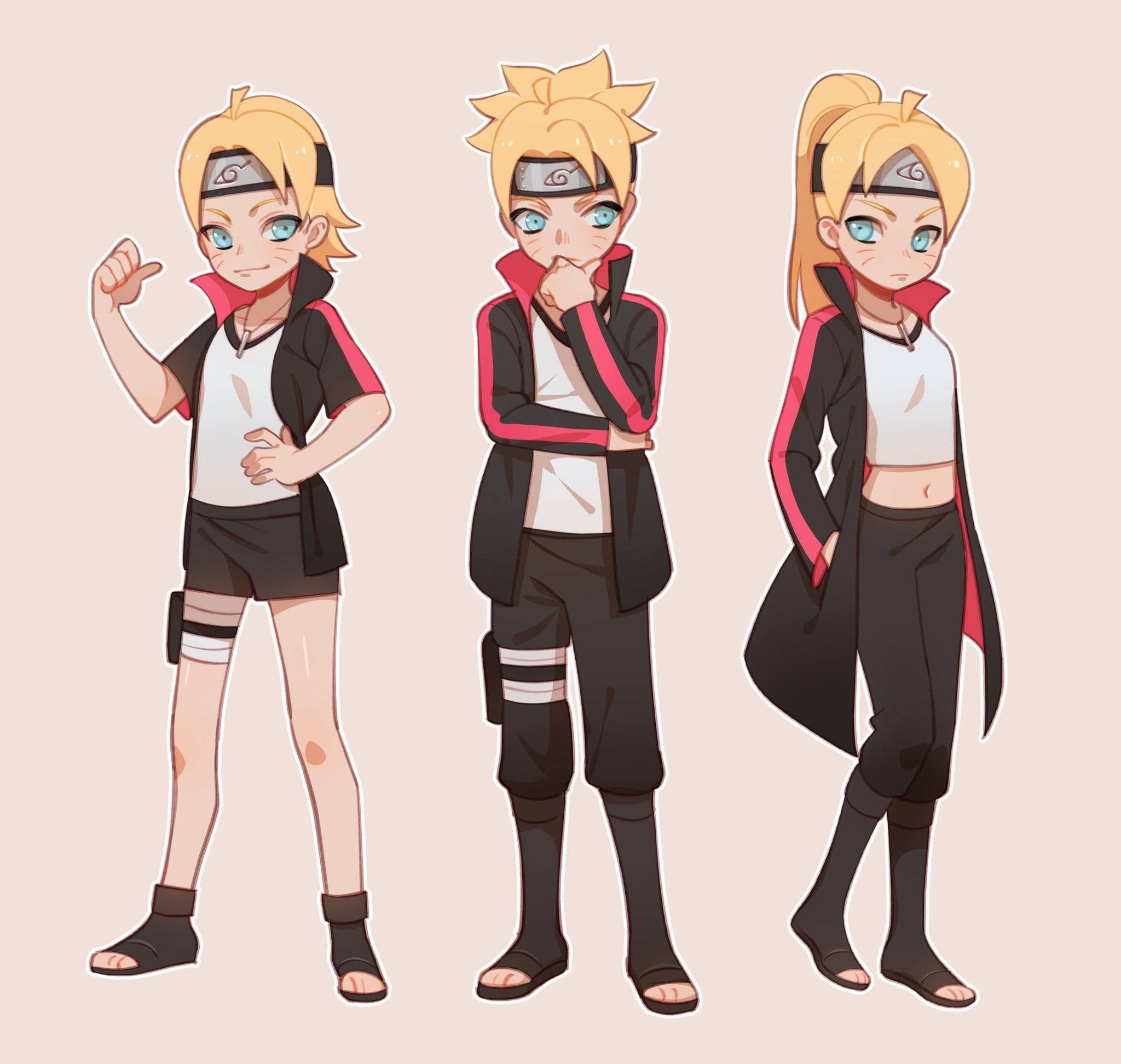 Boruto females/male Naruto Naruto uzumaki, Anime
