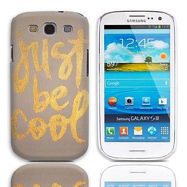 Just Be Cool Pattern Hard Case 3-Pack Näytön suojainten Samsung Galaxy S3 I9300    – EUR € 5.51