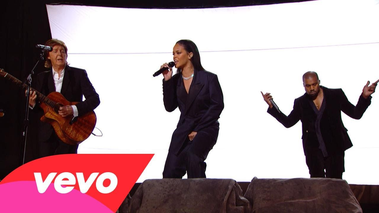 Rihanna Kanye West Paul Mccartney Fourfiveseconds 57th Grammys Kanye West Paul Mccartney Rihanna Kanye West Paul Mccartney