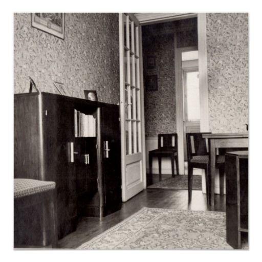 Art deco apartment in Paris, Avenue des Chatillons, 1936