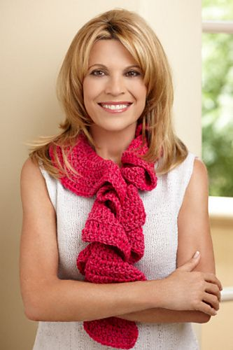 Ravelry: Pink Ruffle Scarf pattern by Lion Brand Yarn | Crochet or ...