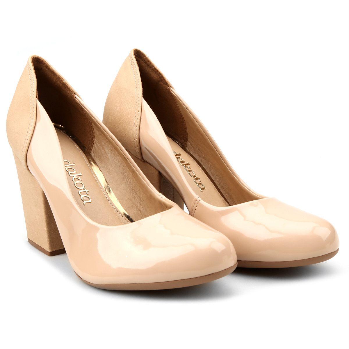 79620a05c Compre Scarpin Dakota Salto Grosso Bege na Zattini a nova loja de moda  online da Netshoes