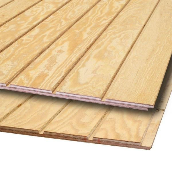 Plytanium Plywood Siding Panel T1 11 4 IN OC Nominal 11 32 in x 4 ft x 8 ft Actual 0 313 in x 48 in x 96 in The Home Depot