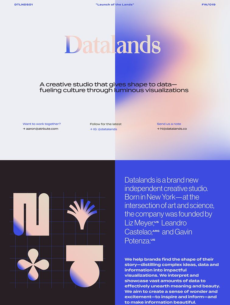 Datalands landing page design inspiration - Lapa Ninja