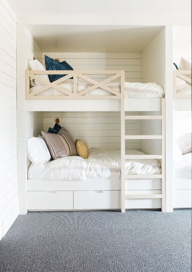 2 Interior Designers Share Their Stylish Little Boy Bedroom Ideas Bunk Bed Rooms Cool Bunk Beds Diy Bunk Bed