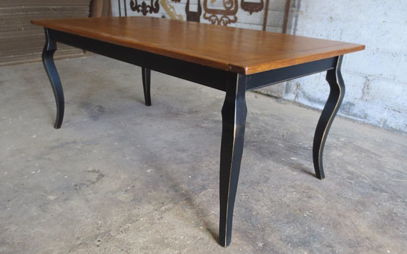Harvest Table 6 X3 With Cabriole Legs Golden Oak Stained Top